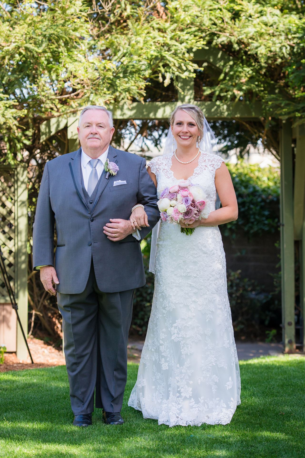 SP Gallery-8789.JPG - Cypress Ridge Pavilion Wedding Photography by Mirror's Edge Photography in Arroyo Grande California.  Bride and father down the asile by Sarah Williams