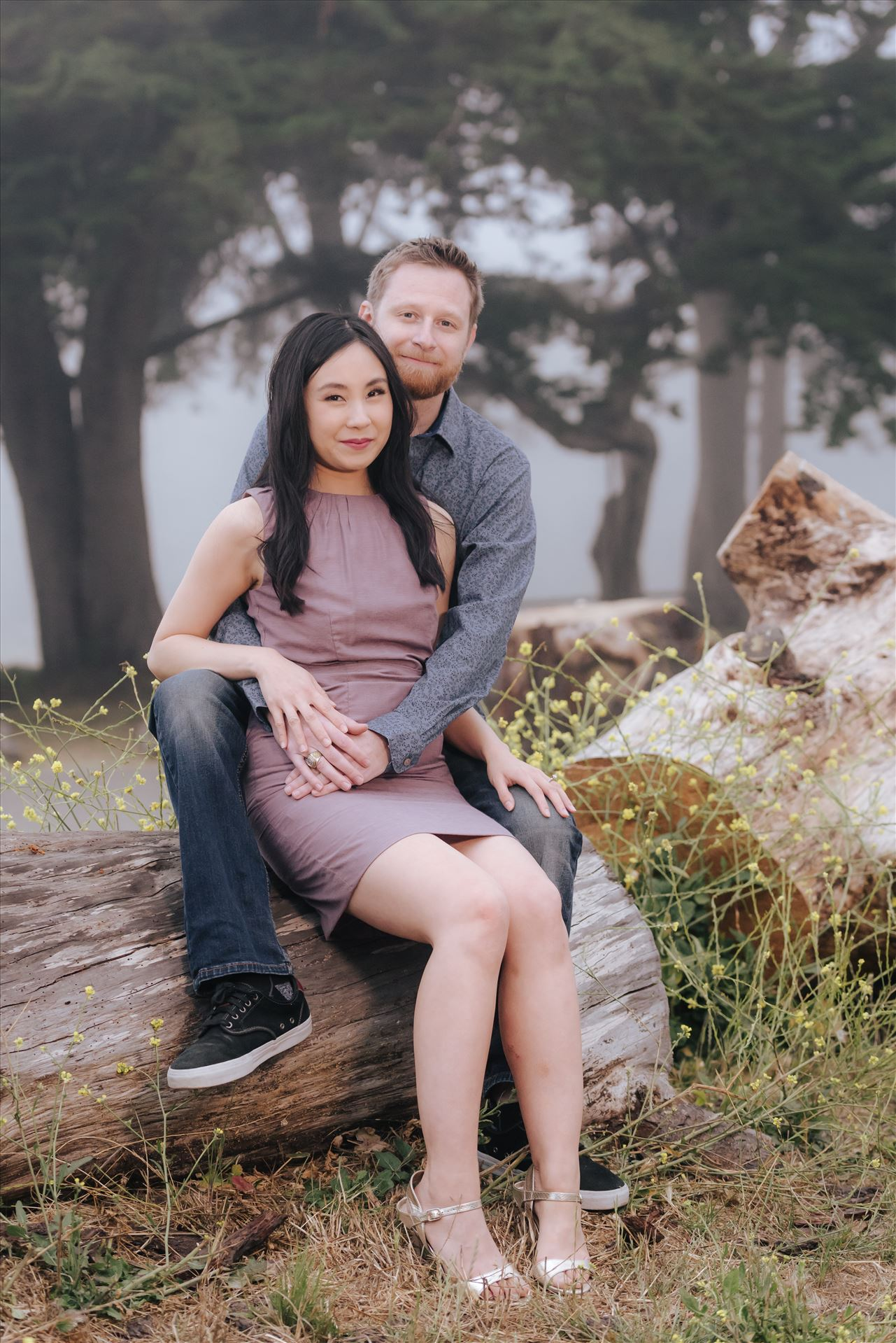 Carmen and Josh 44 - Montana de Oro Spooners Cove Engagement Photography Los Osos California.  Classic Chic Bride and Groom by Sarah Williams