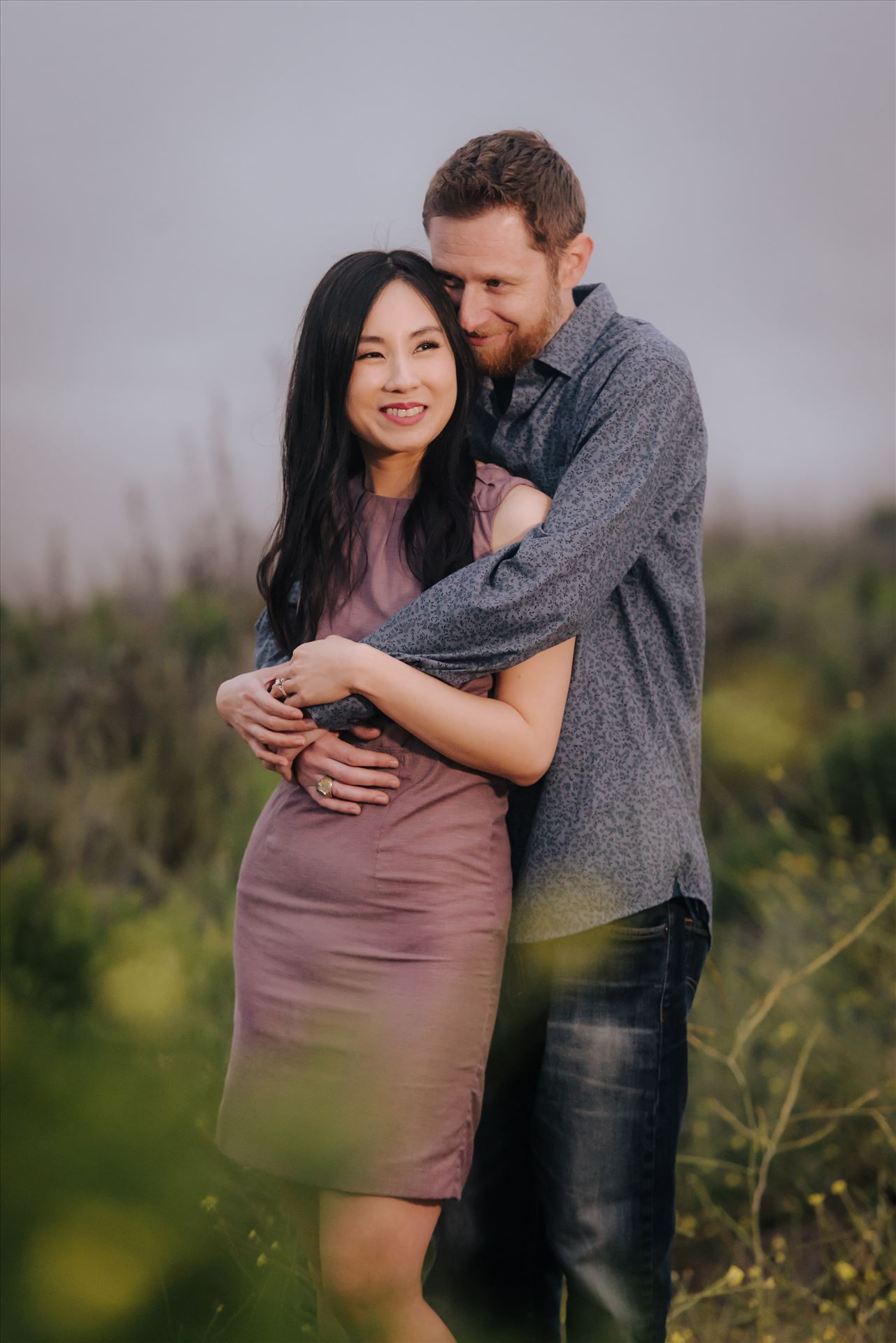 Carmen and Josh 60 - Montana de Oro Spooners Cove Engagement Photography Los Osos California.  Hidden Romance and Love of a couple by Sarah Williams