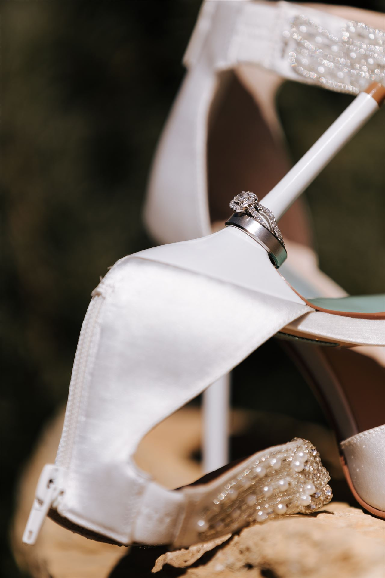 _Y9A6433.JPGTooth and Nail Winery elegant and formal wedding in Paso Robles California wine country by Mirror's Edge Photography, San Luis Obispo County Wedding Photographer. Bridal shoes and wedding rings
