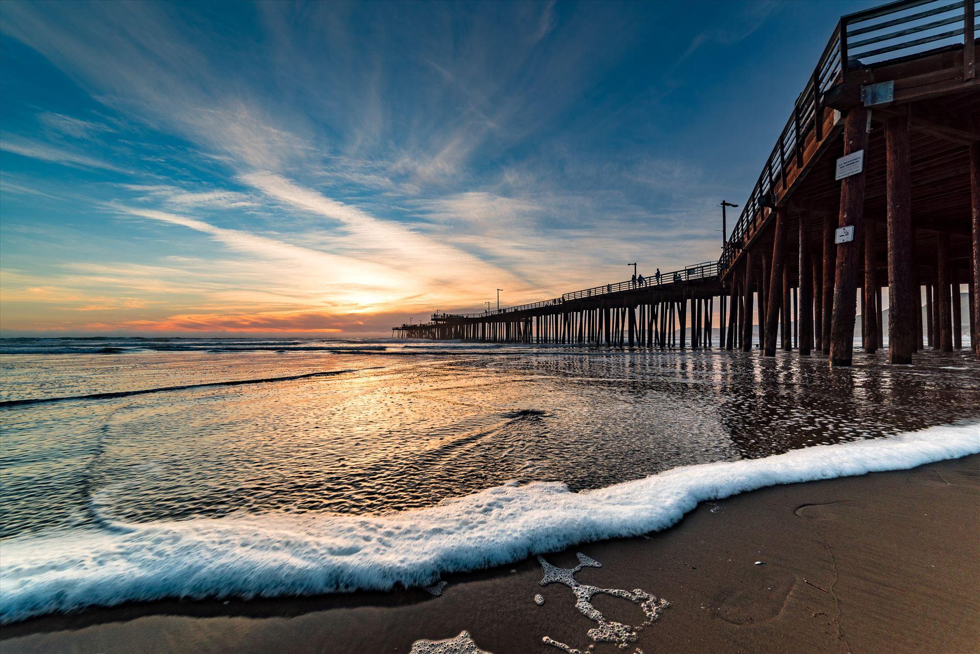 Pismo Beach Pier Wide 1 -  by Sarah Williams