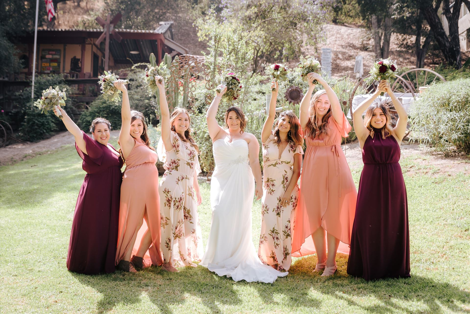 Madison and Stephen Wedding 054 - Mirror's Edge Photography captures Madison and Stephen's Wedding at Case de Alvarez in Arroyo Grande, California. Bride and Bridesmaids by Sarah Williams