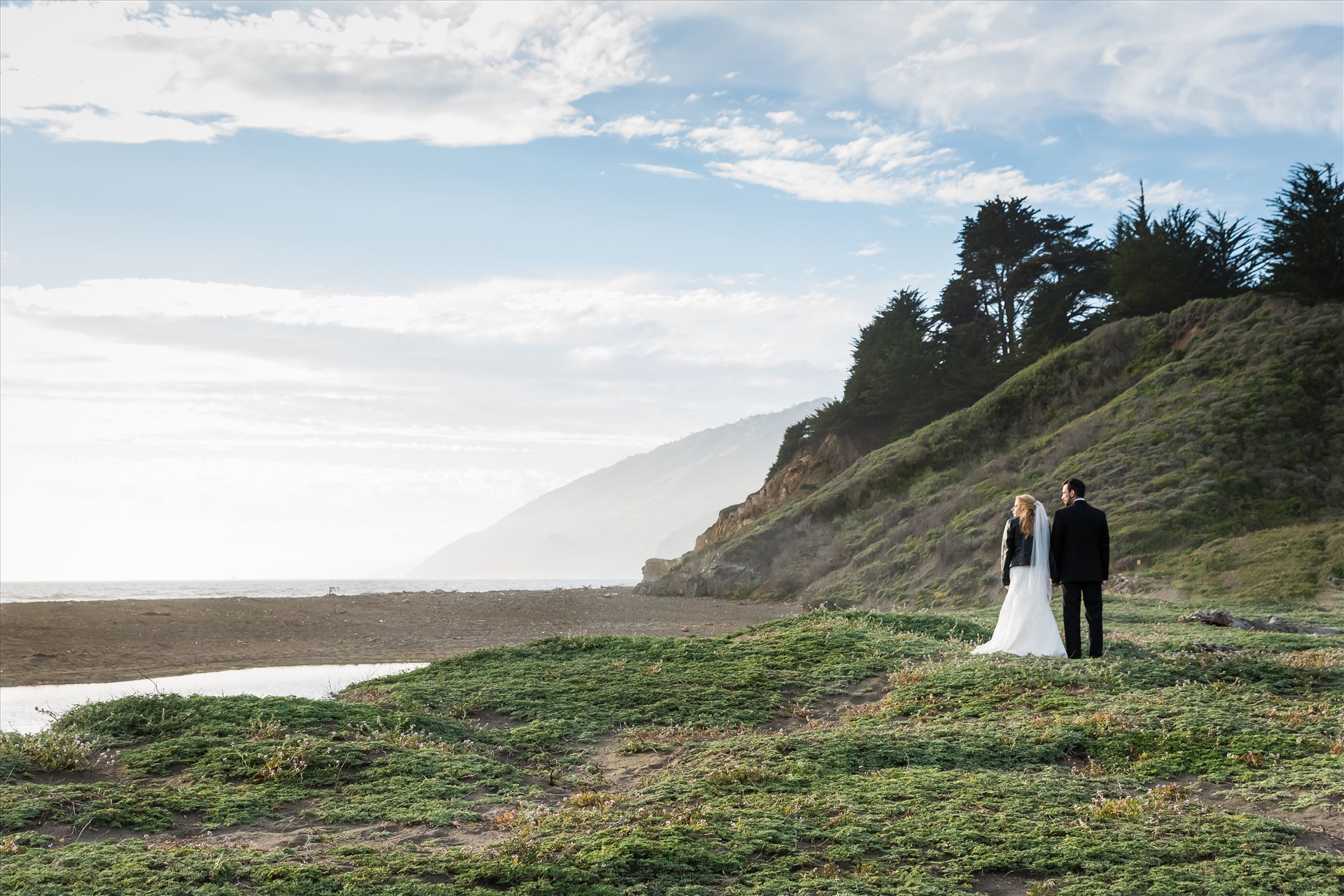 Adele and Jason 31 - Ragged Point Inn Wedding Elopement photography by Mirror's Edge Photography in San Simeon Cambria California. Bride and Groom at Ragged Point beach. Big Sur Wedding Photography by Sarah Williams