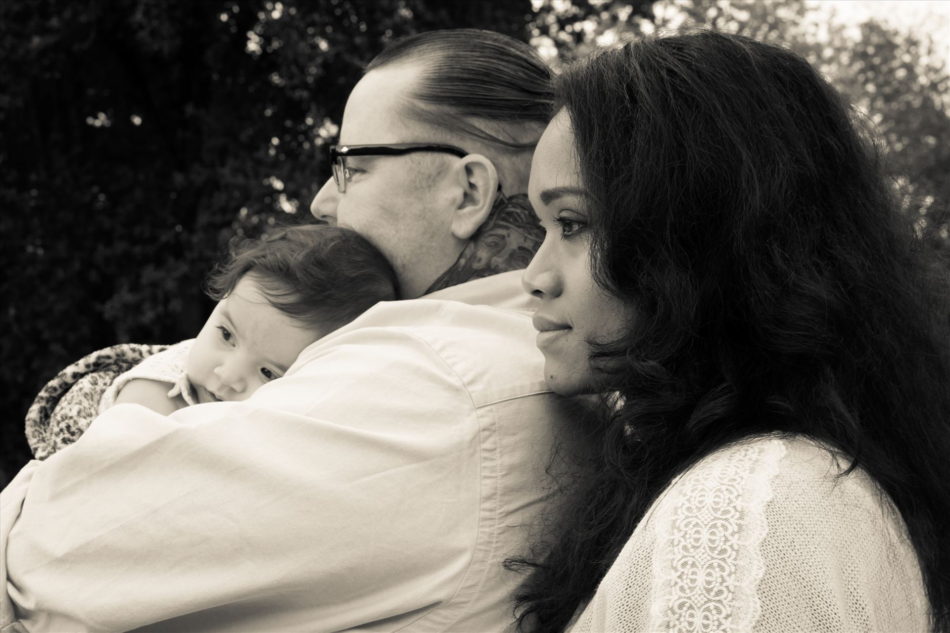 Dad, Mom and Aibhlin BW.jpg -  by Sarah Williams