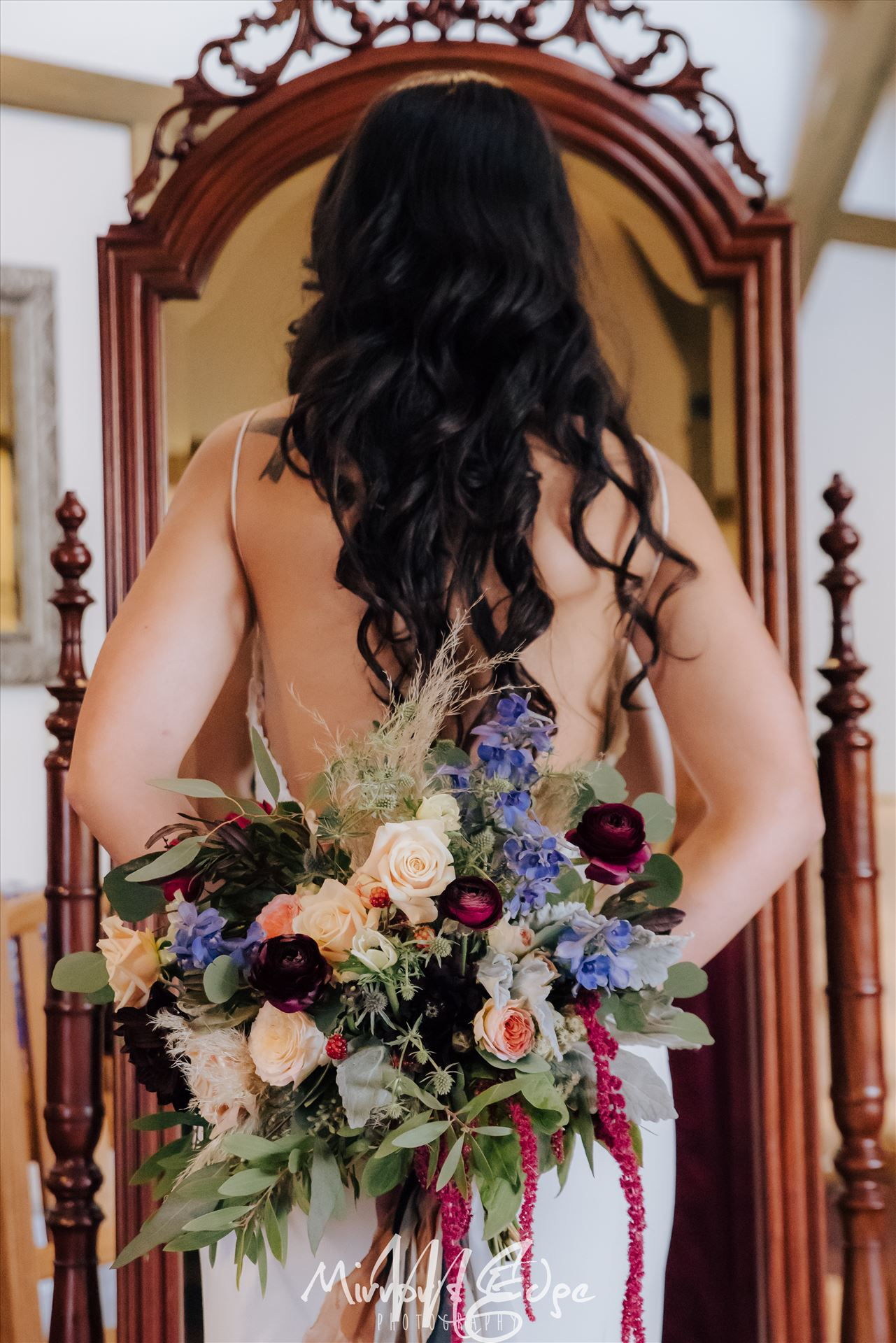 Arroyo Grande Wedding Bride With Flowers - Cypress Ridge Pavilion Wedding at Cypress Ridge Golf Course in Arroyo Grande California Wedding Photography by San Luis Obispo Wedding Photographer. Bride with flowers. by Sarah Williams