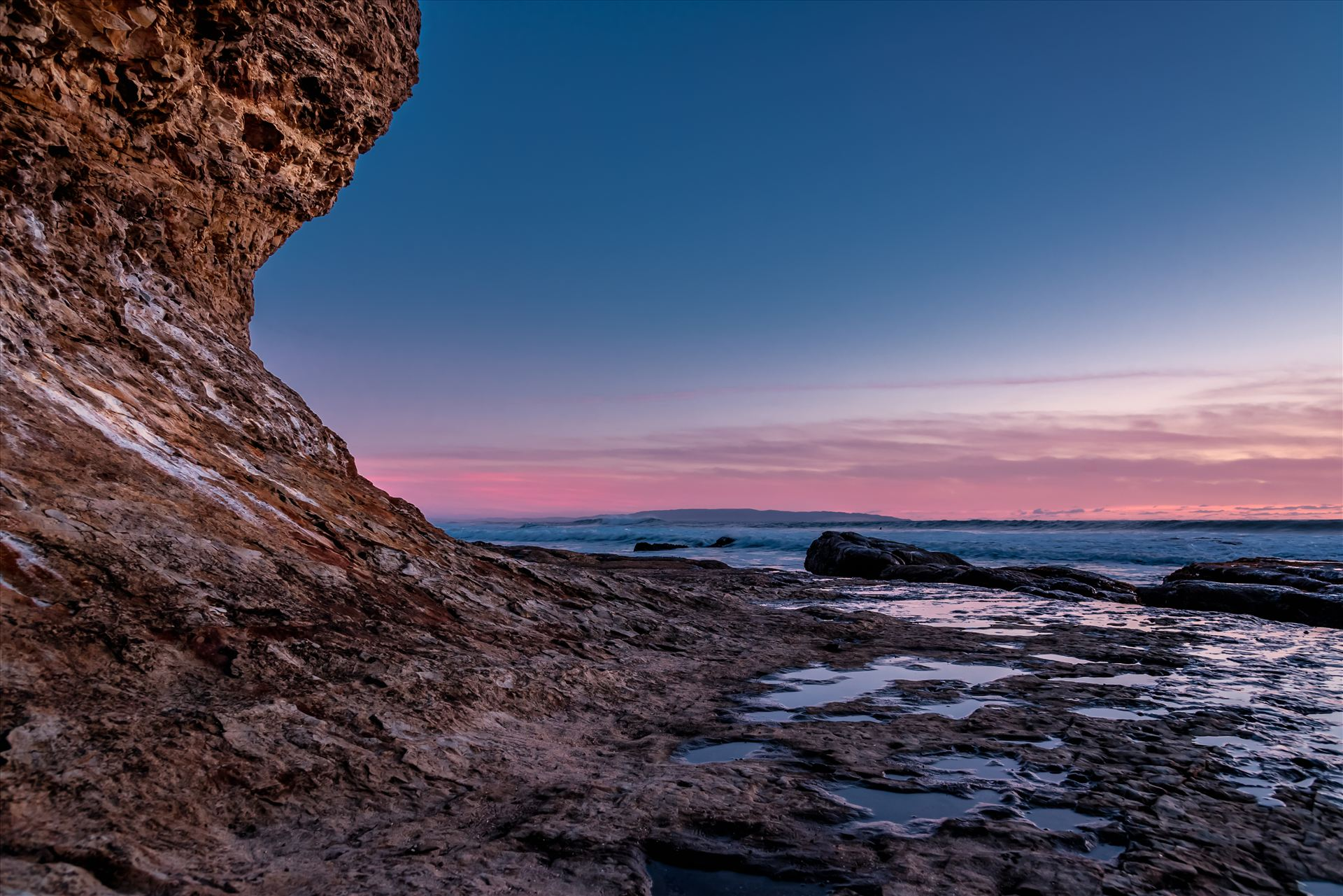 Shell Beach Cliff Pink Sunset.jpg -  by Sarah Williams