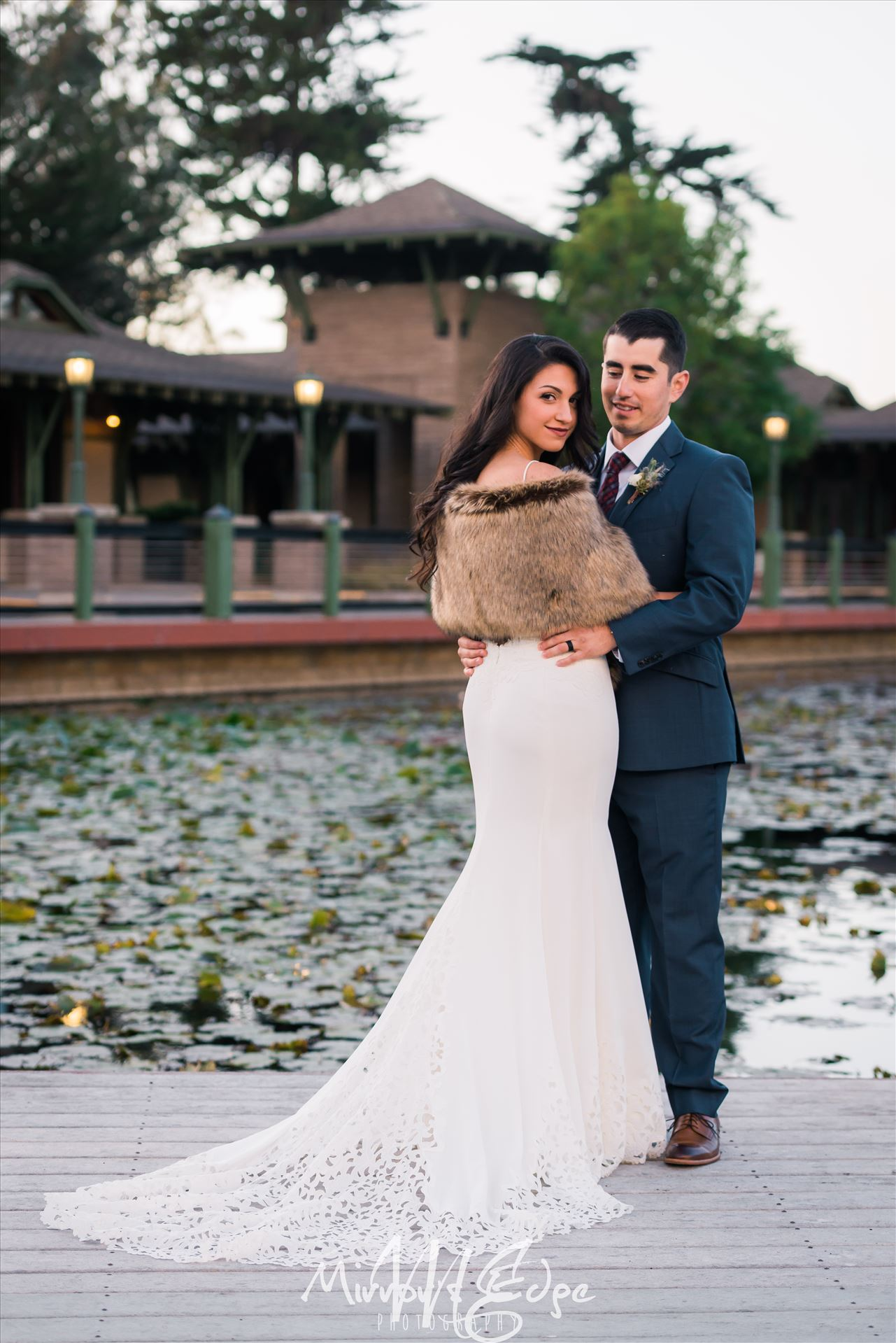 Arroyo Grande Wedding - Cypress Ridge Pavilion Wedding at Cypress Ridge Golf Course in Arroyo Grande California Wedding Photography by San Luis Obispo Wedding Photographer. Bride and Groom by the lake. by Sarah Williams
