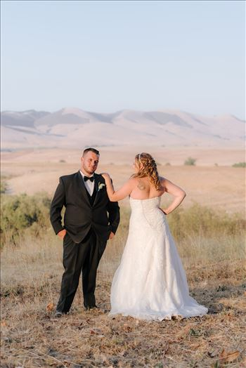 Mirror's Edge Photography, a San Luis Obispo Wedding Photographer, captures a wedding at the Historic Dana Adobe in Nipomo California.  Sunset photos with the bride and groom romantic and country chic.