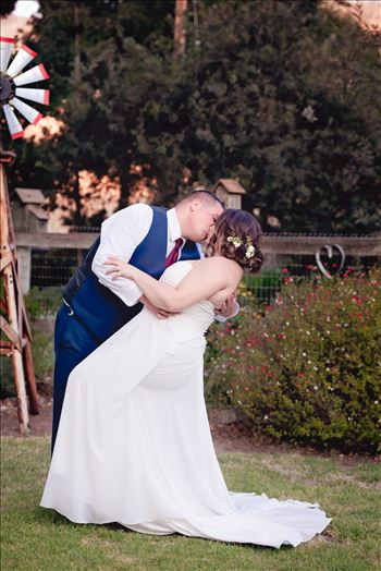 Mirror's Edge Photography captures Madison and Stephen's Wedding at Case de Alvarez in Arroyo Grande, California.  The dip with Bride and Groom