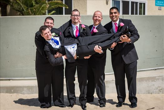 Sea Venture Resort and Spa Wedding Photography by Mirror's Edge Photography in Pismo Beach, California. Groom and Groomsmen