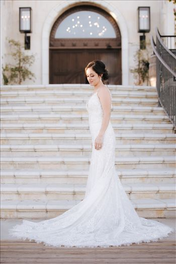 Mirror's Edge Photography captures Edith and Kyle's wedding at the Tooth and Nail Winery in Paso Robles California. Bride in front of winery
