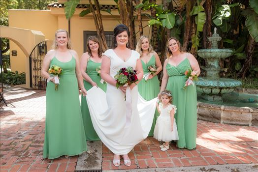 Wedding photography at the Historic Santa Maria Inn in Santa Maria, California by Mirror's Edge Photography. Beautiful Bride and her Bridesmaids