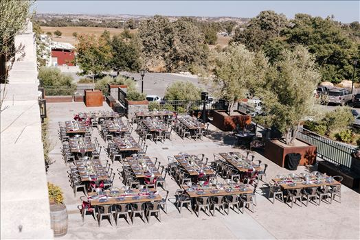 Mirror's Edge Photography captures Edith and Kyle's wedding at the Tooth and Nail Winery in Paso Robles California. Outdoor wedding setup