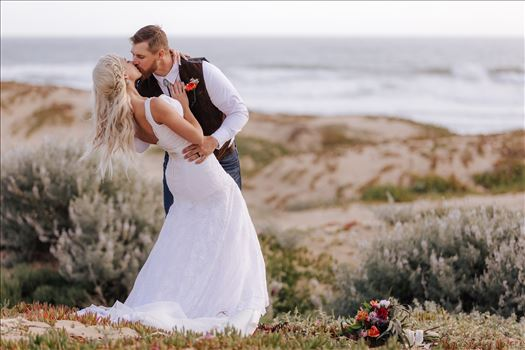 Mirror's Edge Photography, a San Luis Obispo County Wedding and Engagement Photographer, captures Sarah and Jeremy's intimate wedding on Pismo State Beach in Grover Beach, California.  Grover Beach Preserve with Bride and Groom