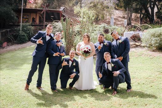 Mirror's Edge Photography captures Madison and Stephen's Wedding at Case de Alvarez in Arroyo Grande, California.  Bride and Groomsmen