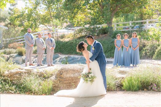 Mirror's Edge Photography captures Maryanne and Michael's magical wedding in the Secret Garden at the iconic Madonna Inn in San Luis Obispo, California. The Bridal Party in the Secret Garden