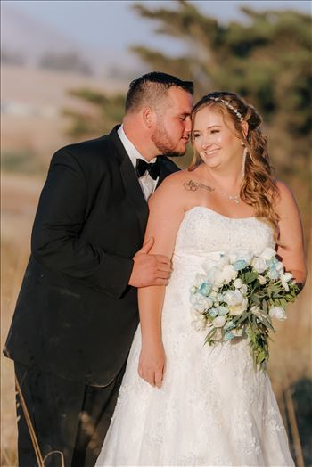 Mirror's Edge Photography, a San Luis Obispo Wedding Photographer, captures a wedding at the Historic Dana Adobe in Nipomo California.  Sunset photos with the bride and groom romantic.