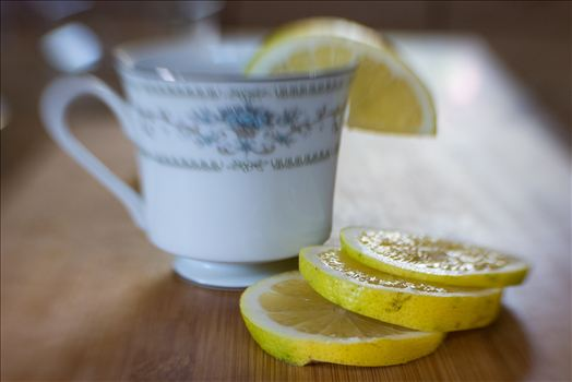 Tea With Lemon.jpg - Morning tea with fresh sliced lemon