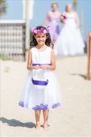 Sea Venture Resort and Spa Wedding Photography by Mirror's Edge Photography in Pismo Beach, California. Flower girl
