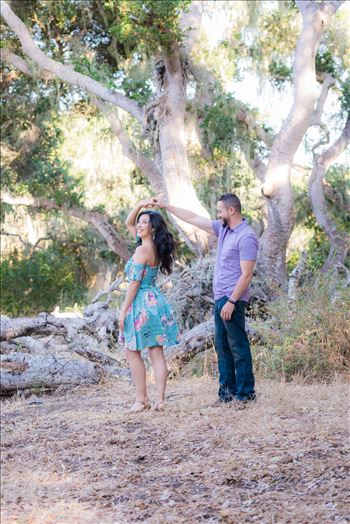 Los Osos State Park Reserve Engagement Photography and Wedding Photography by Mirror's Edge Photography.  Dancing in the trees