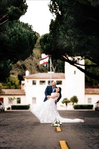 Sarah Williams of Mirror's Edge Photography and San Luis Obispo and Santa Barbara Wedding Photographer captures the Ochoa Wedding. Bride and Groom at Downtown Lompoc.