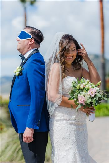 Wedding at Dolphin Bay Resort and Spa in Shell Beach, California by Sarah Williams of Mirror's Edge Photography, a San Luis Obispo County Wedding Photographer. First Look at Dolphin Bay