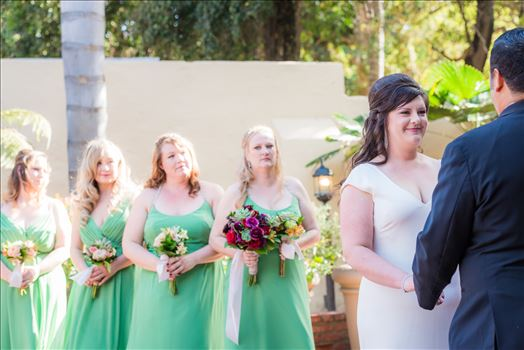 Wedding photography at the Historic Santa Maria Inn in Santa Maria, California by Mirror's Edge Photography. Bride and Bridesmaids