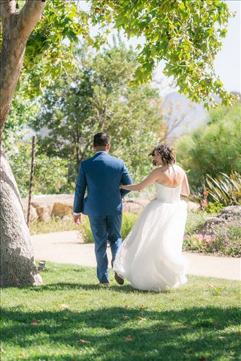 "Mirror's Edge Photography captures Maryanne and Michael's magical wedding in the Secret Garden at the iconic Madonna Inn in San Luis Obispo, California.  Bride and Groom after saying ""I Do"""