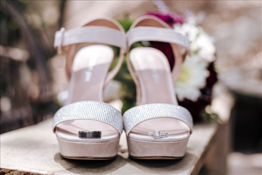 Mirror's Edge Photography captures Madison and Stephen's Wedding at Case de Alvarez in Arroyo Grande, California. Rings and shoes