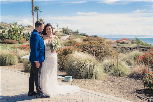 Wedding at Dolphin Bay Resort and Spa in Shell Beach, California by Sarah Williams of Mirror's Edge Photography, a San Luis Obispo County Wedding Photographer. Bride and Groom overlooking Pismo Beach