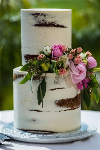 Wedding at Dolphin Bay Resort and Spa in Shell Beach, California by Sarah Williams of Mirror's Edge Photography, a San Luis Obispo County Wedding Photographer. Wedding Cake Pardon My French