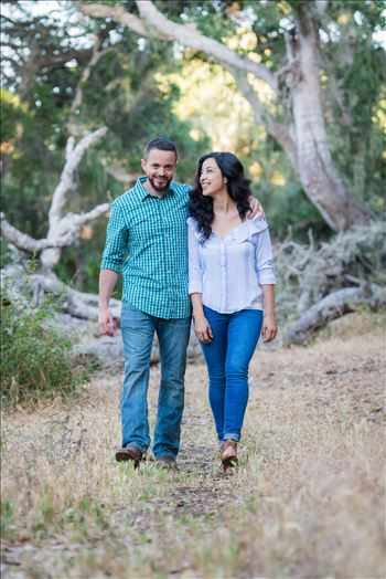 Los Osos State Park Reserve Engagement Photography and Wedding Photography by Mirror's Edge Photography.  Walking through the woods