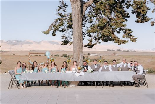 Mirror's Edge Photography, a San Luis Obispo Wedding Photographer, captures a wedding at the Historic Dana Adobe in Nipomo California.  Head Table at the Dana Adobe.