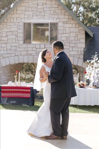 Sarah Williams of Mirror's Edge Photography captures the gorgeous fairy tale wedding day of Victoria and Esteban at the Castle Noland Wedding Venue in San Luis Obispo, California.  Bride and Groom First Dance