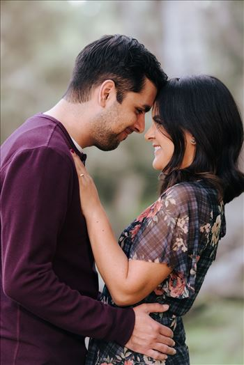 Mirror's Edge Photography captures CiCi and Rocky's Sunrise Engagement in Los Osos California at Los Osos Oaks Reserve. Foreheads together in love