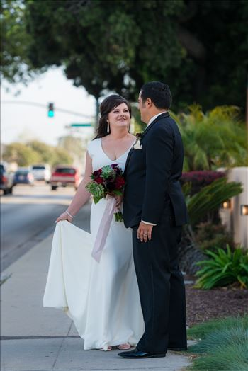 Wedding photography at the Historic Santa Maria Inn in Santa Maria, California by Mirror's Edge Photography. Bride and Groom on Broadway