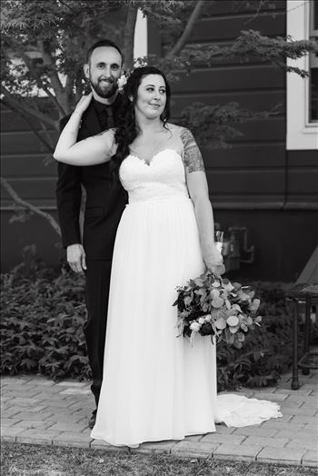 Emily House Bed and Breakfast Paso Robles California Wedding Photography by Mirrors Edge Photography. Bride and groom in black and white romantic