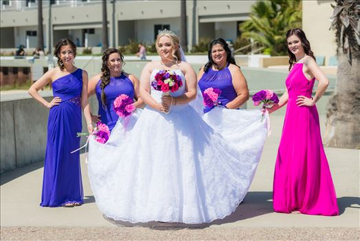 Sea Venture Resort and Spa Wedding Photography by Mirror's Edge Photography in Pismo Beach, California. Bride and her Bridesmaids