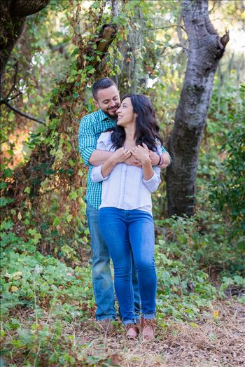 Los Osos State Park Reserve Engagement Photography and Wedding Photography by Mirror's Edge Photography.  Romantic hug couple