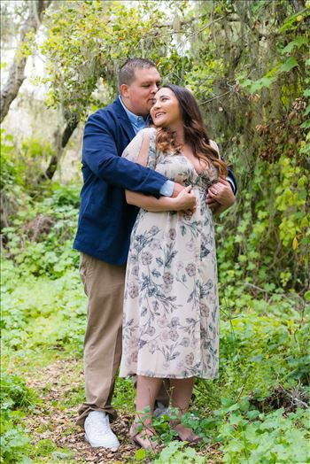 Los Osos Oaks Nature Reserve Engagement Photography Session by Mirror's Edge Photography.  Romantic engagement in the trees on the Central Coast of California