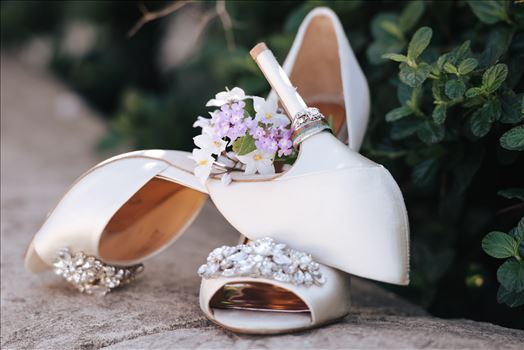 Sarah Williams of Mirror's Edge Photography captures the gorgeous fairy tale wedding day of Victoria and Esteban at the Castle Noland Wedding Venue in San Luis Obispo, California.  Shoes and wedding rings