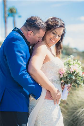 Wedding at Dolphin Bay Resort and Spa in Shell Beach, California by Sarah Williams of Mirror's Edge Photography, a San Luis Obispo County Wedding Photographer. Bride and Groom by the Ocean